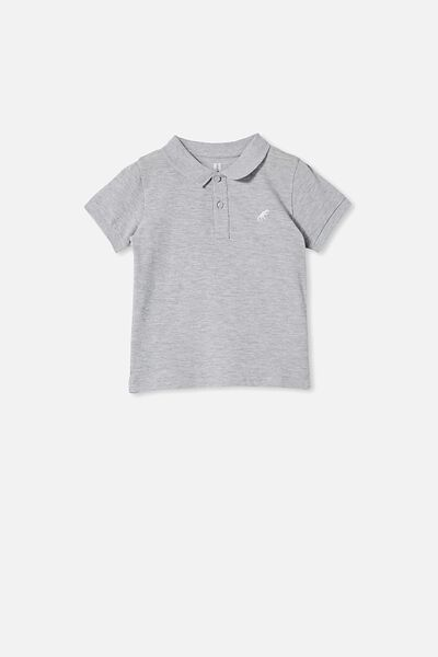 Kendricks Polo, LIGHT GREY MARLE/DINO