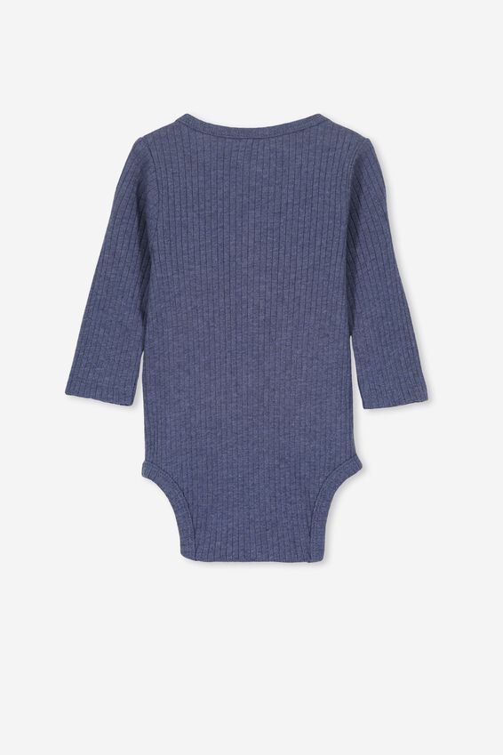 Ls Button Bubbysuit, INDIAN INK MARLE
