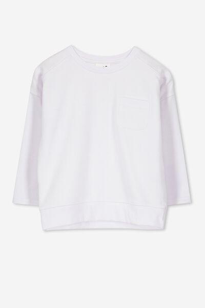 Luca Long Sleeve Top, WHITE