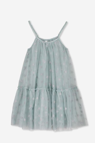 Iggy Overlay Dress, ETHER BLUE/STARS