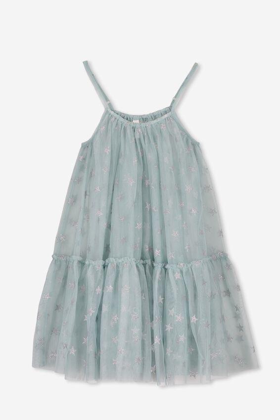 Iggy Overlay Dress, ETHER BLUE/STARS