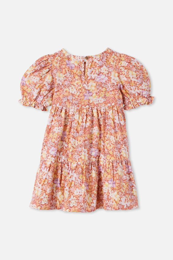 Joy Short Sleeve Dress, COASTAL FLORAL
