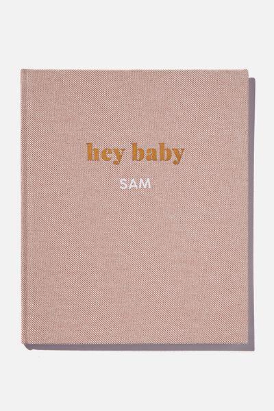 Personalised Baby Book, HEY BABY ZEPHYR