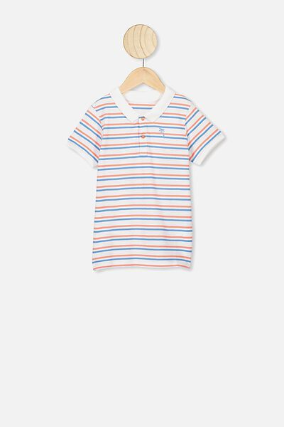 Kendricks Polo, STRIPE/PALM EMB