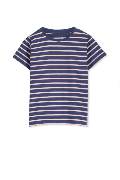 Max Short Sleeve Tee, CAPTAIN BLUE/APRICOT STRIPE