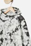 Drop Tail Hoodie, RABBIT GREY TIE DYE