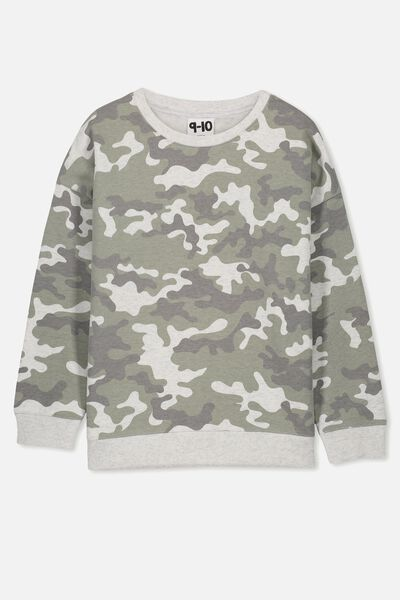 Sage Crew, SUMMER GREY MARLE/CAMO/DROP