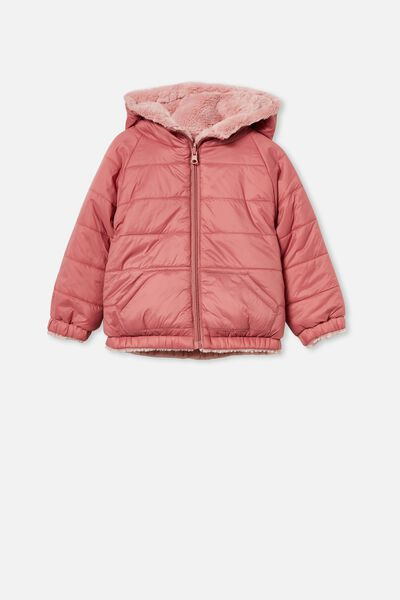 Clara Reversible Puffer, VERY BERRY/ZEPHYR