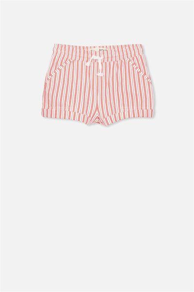 Nila Knit Short, VANILLA/VERTICAL STRIPE