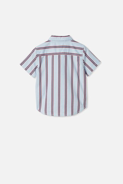 Resort Short Sleeve Shirt, VERTICAL STRIPE/FROSTY BLUE