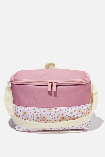 Kids Lunch Bag, OLD ROSE DAISY