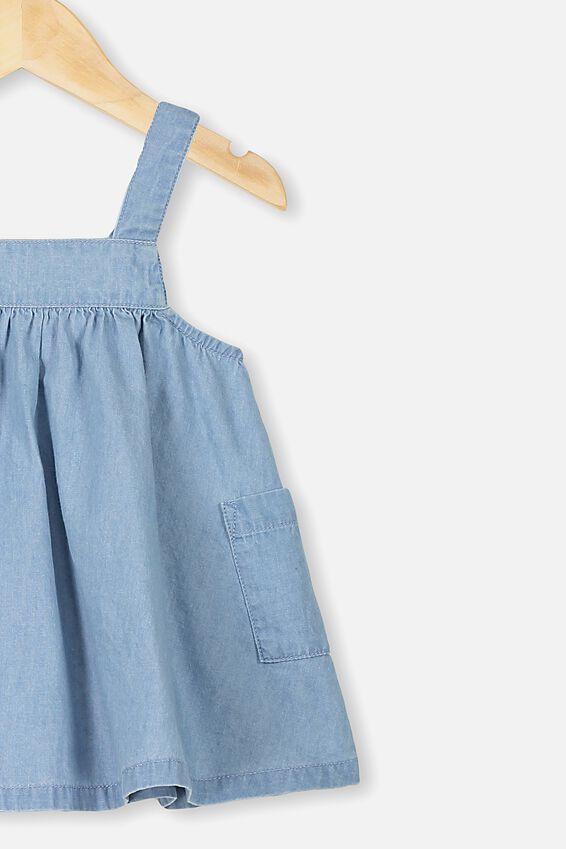 Penny Pinafore Dress, CHAMBRAY