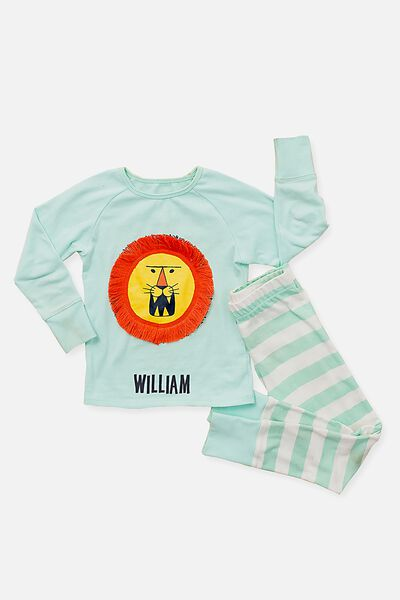 Louis Ls Waffle Boys Pj Personalised, LARRY THE LION PERSONALISED
