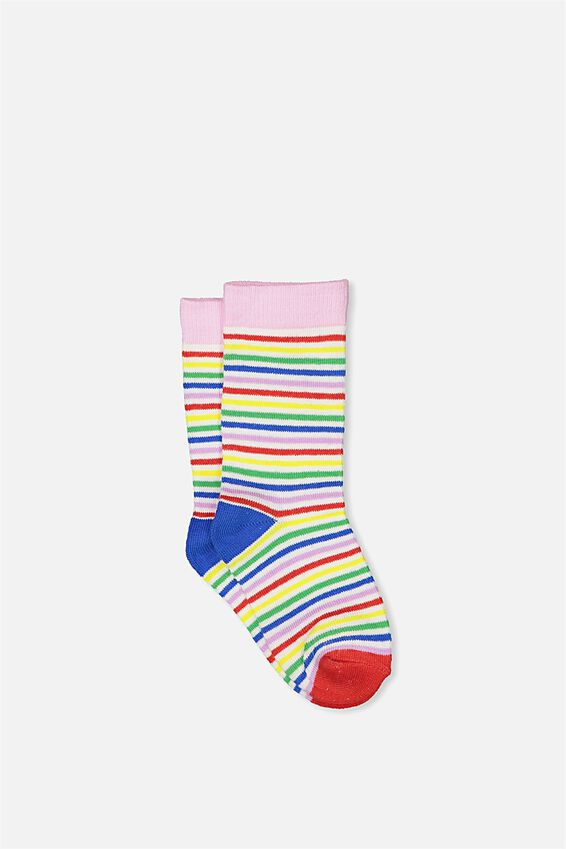 Fashion Kooky Socks, RAINBOW STRIPE