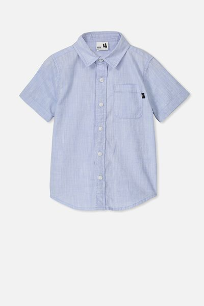 Resort Short Sleeve Shirt, SKY BLUE TEXTURE