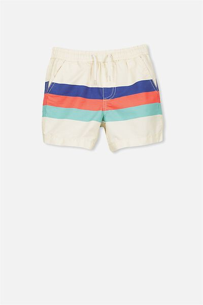 Murphy Swim Short, DARK VANILLA/RETRO STRIPE