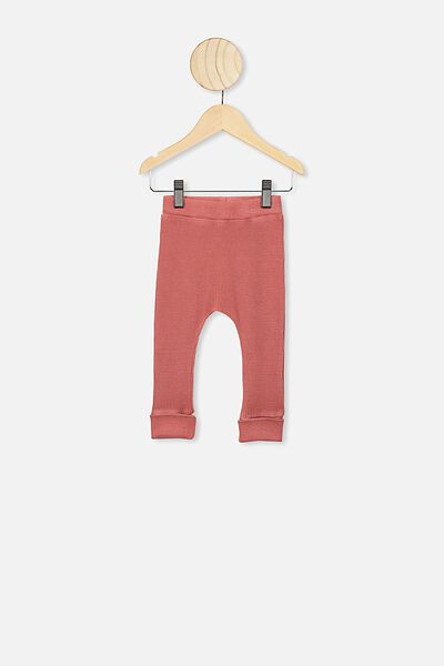 The Waffle Legging, RED BRICK