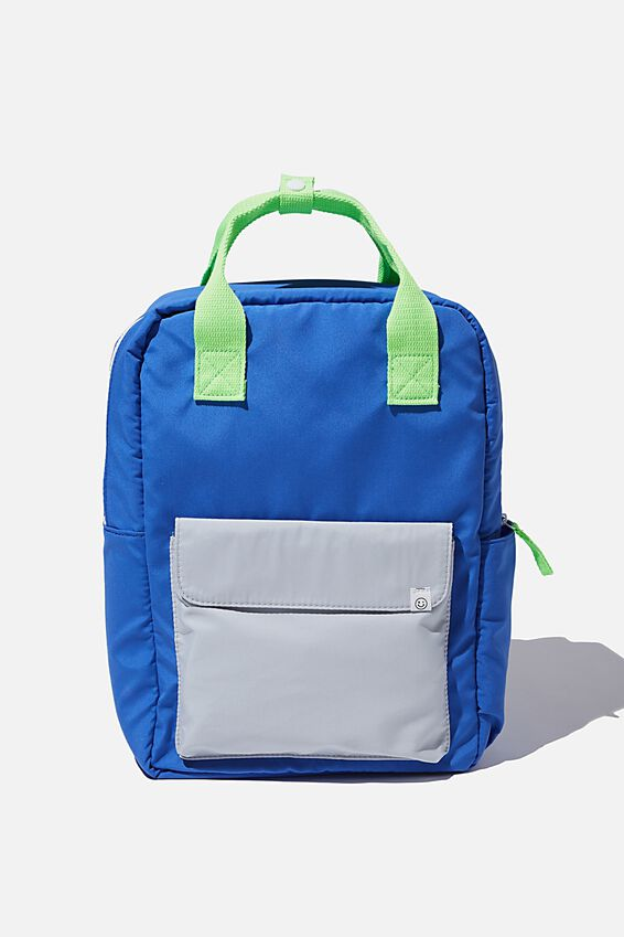 Back To School Backpack, RETRO BLUE/GREY