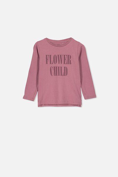 Penelope Long Sleeve Tee, VINTAGE BERRY/FLOWER CHILD