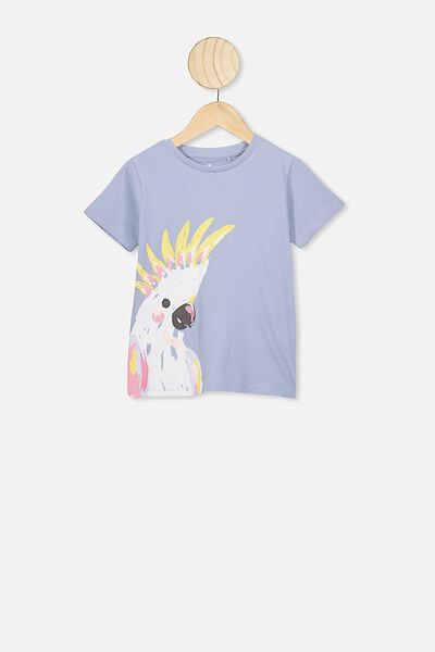 Penelope Short Sleeve Tee, DUSTY BLUE/COCKATOO/MAX