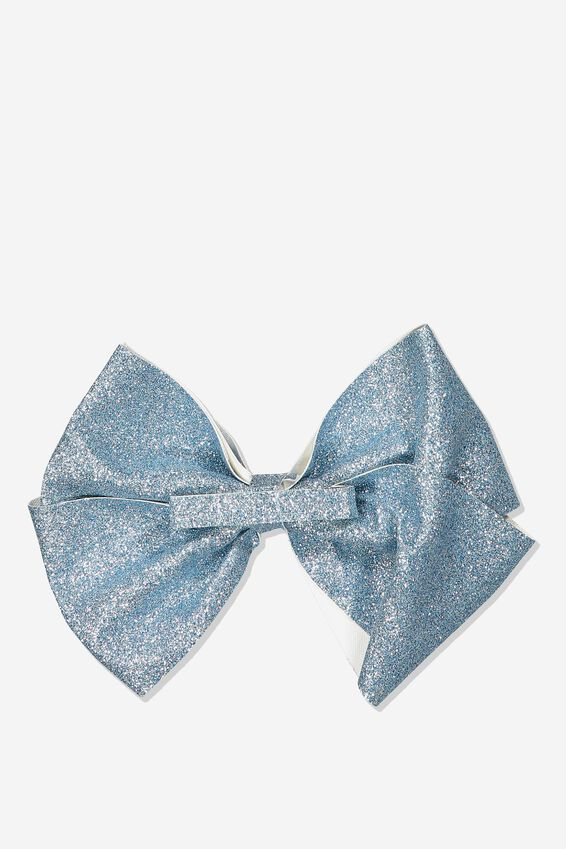 Statement Bows, DUSTY BLUE SHIMMER