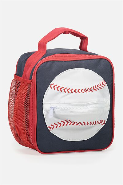 Kids Lunch Bag, NAVY BASEBALL