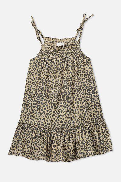 Lila Sleeveless Dress, SEMOLINA/LEOPARD