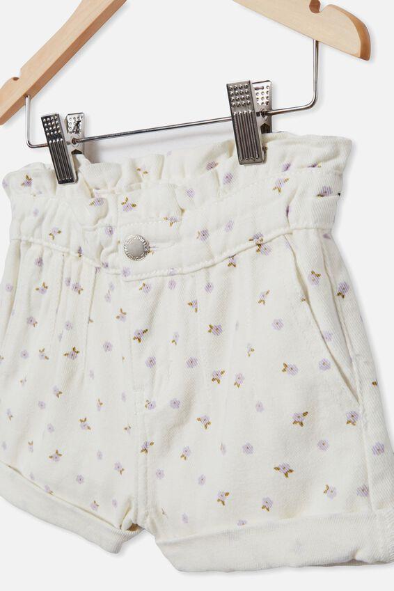Peta Paperbag Short, VANILLA/DITSY FLORAL