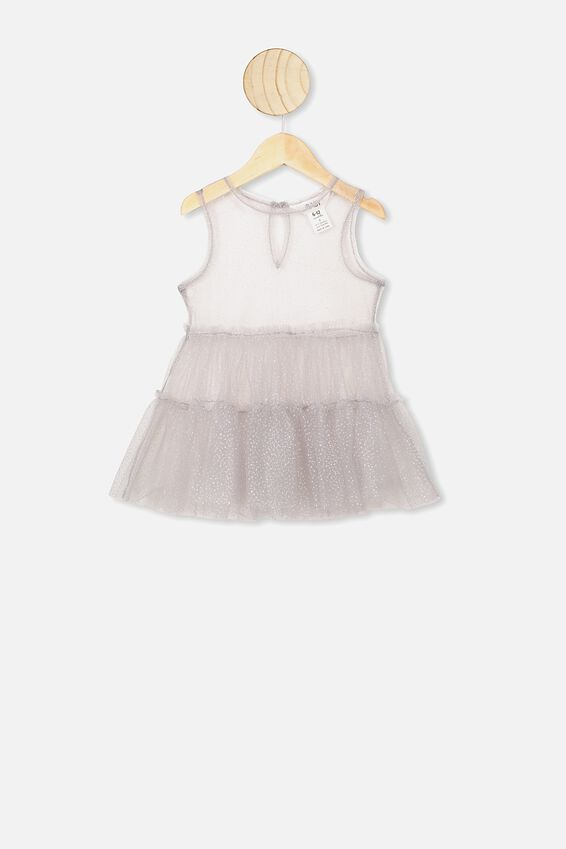Tuppence Tulle Dress, WINTER GREY