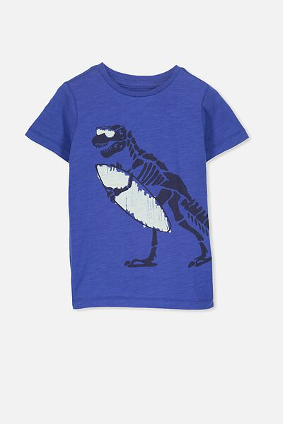 Max Short Sleeve Tee, BLUE SURF DINO/SIS
