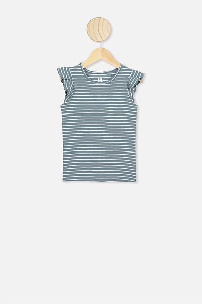 Kaia Tank, DEEP POOL BLUE/WHITE STRIPE
