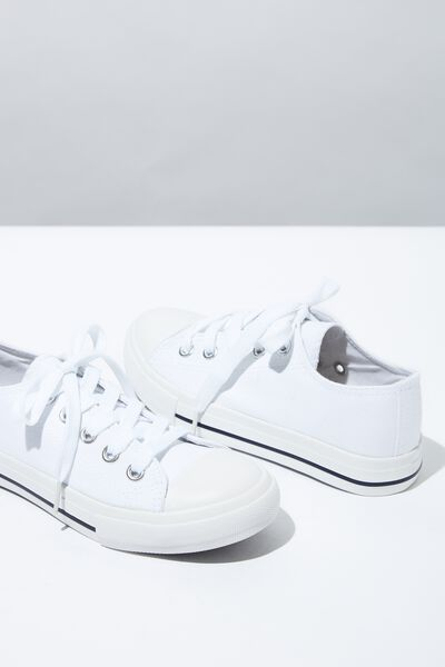 Classic Trainer Lace Up, WHITE