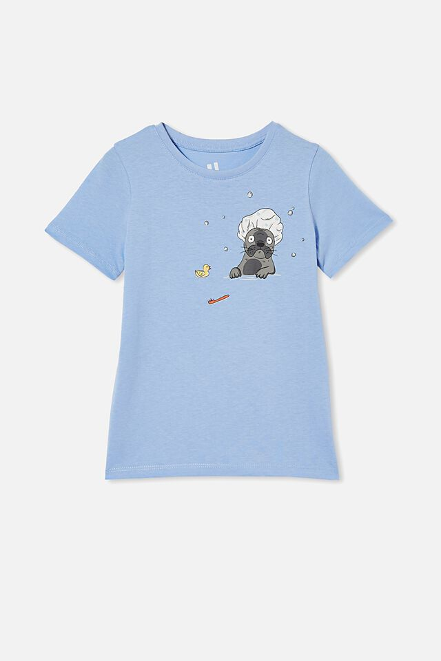Penelope Short Sleeve Tee, DUSK BLUE/DOG BATH