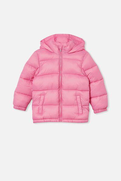 Frankie Puffer Jacket, PINK GERBERA