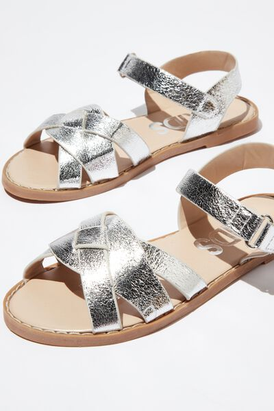 Fisherman Sandal, CRACKED SILVER