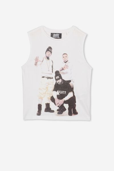 License Muscle Tank, LCN MT WHITE/NAUGHTY BY NATURE