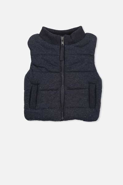 Leo Puffer Vest, BLUE NEP MARLE