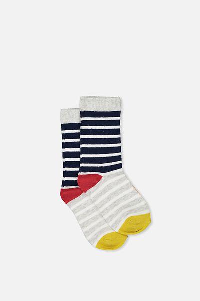 Fashion Kooky Socks, COLOUR BLOCK STRIPE