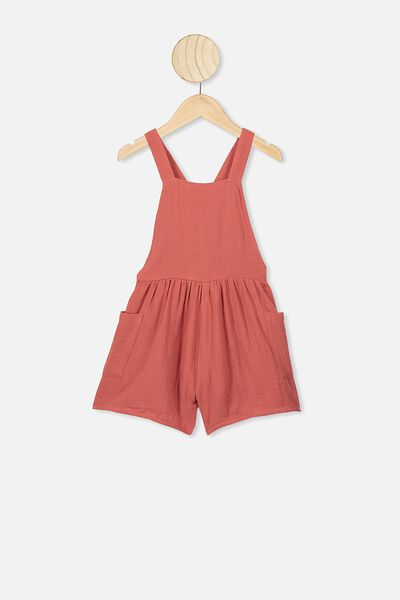Tilly Playsuit, RED BRICK