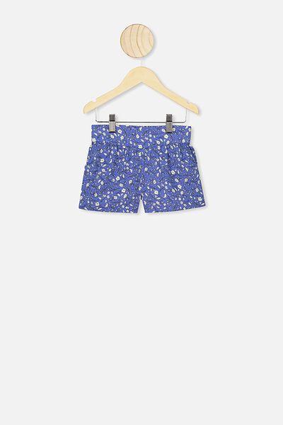 Callie Short, ROYAL BLUE/SPRIGGY FLORAL