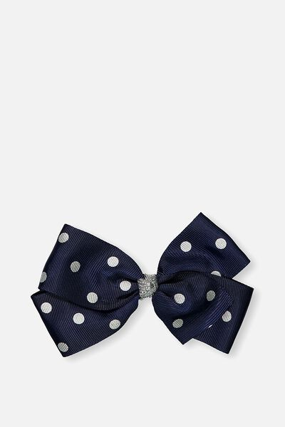 Big Bow Clips, PEACOAT SILVER SPOT