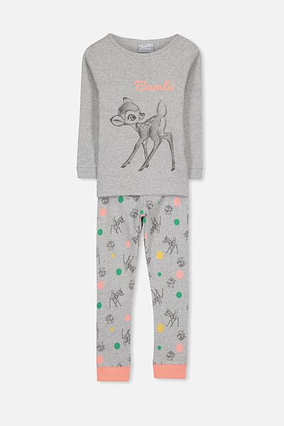 Alicia Long Sleeve Girls Pj Set, BAMBI AND THUMPER
