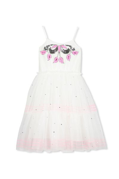Isabella Tulle Dress, VANILLA/BRIGHT PRINCESS