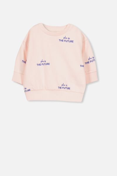 Skyler Drop Shoulder Crew, BUBBLEGUM PINK/THE FUTURE