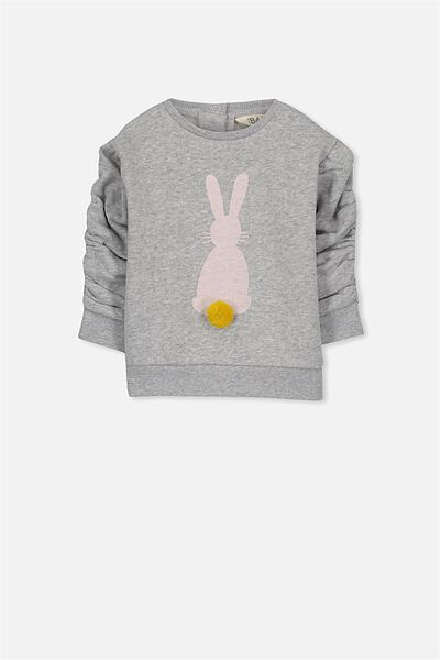 Skyler Crew, LIGHT GREY MARLE/BUNNY