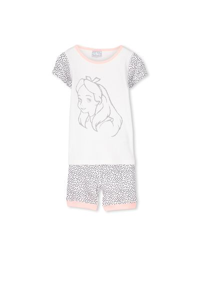 Alice In Wonderland Short Sleeve PJ Set, ALICE IN WONDERLAND GLITTER