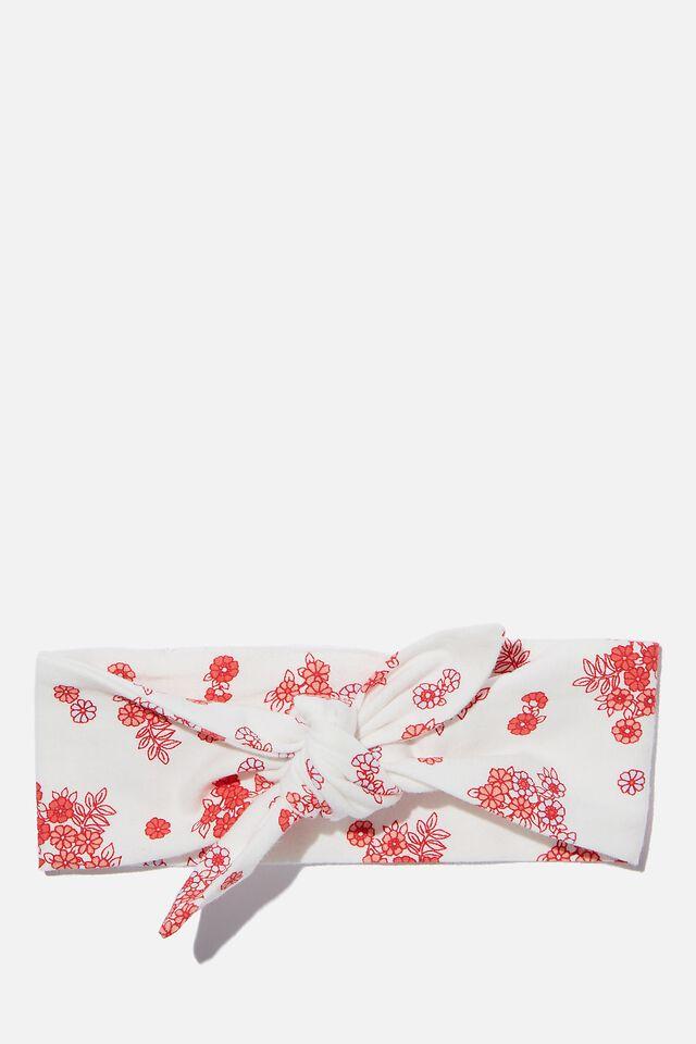 The Tie Headband, VANILLA/MINI RETRO FLORAL
