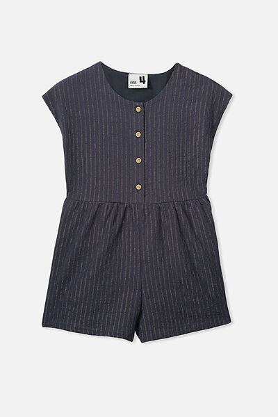 Asha Playsuit, OCEAN GREY/SPARKLE STRIPE