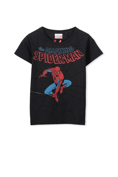 Boys Spiderman Short Sleeve Tee, PHANTOM/AMAZING SPIDERMAN