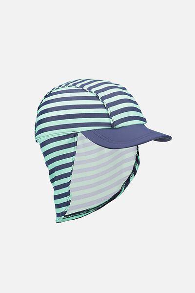 Swim Hat, GELATI GREEN STRIPE